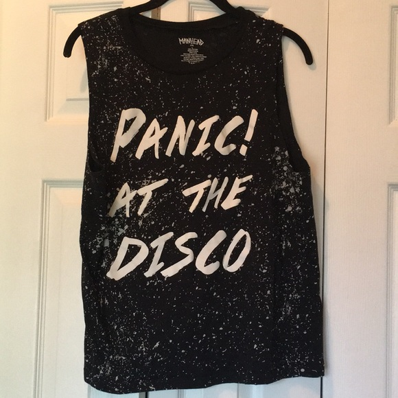 f40205a3d Hot Topic Tops | Panic At The Disco Splatter Muscle Tee | Poshmark